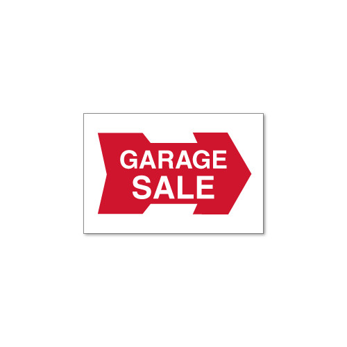 RMD 12x18 Garage Sale Directional - Corrugated Plastic Double Sided