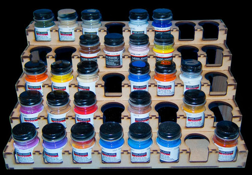 Paint Rack - 32mm Model Master - Mission Models