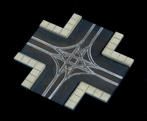 4 Way Crossing, 2 LaneRoad - 285ROAD065