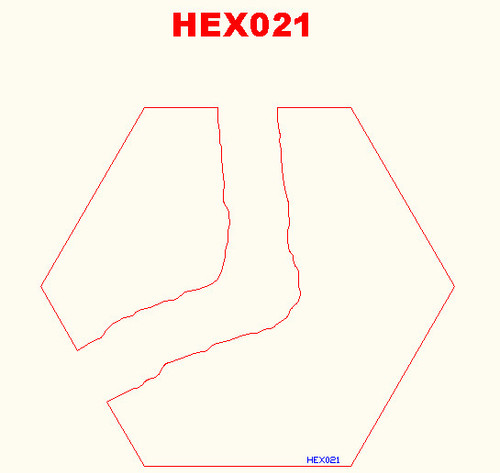 Curved River Hex - 285HEX021