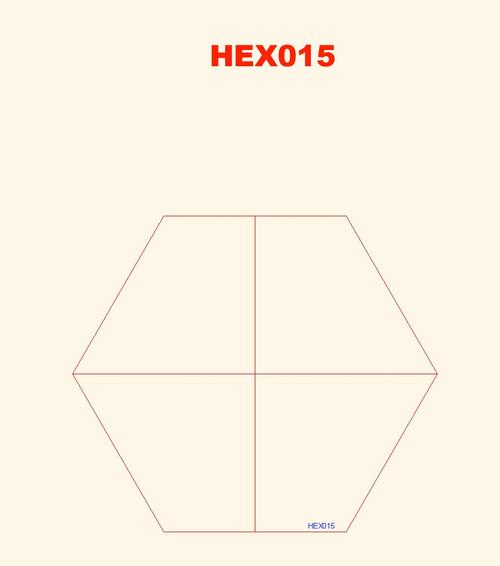 Quarter Hexes (4) - 285HEX015