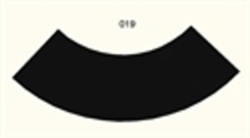 90 Degree Curve, 4 Lane Road, Large Radius - 285FELT019
