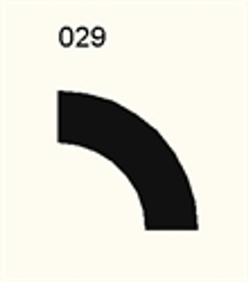 90 Degree Curve, Single Lane - 285FELT029