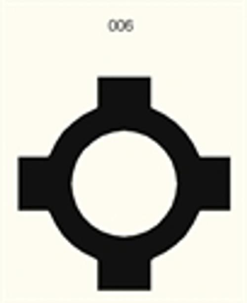 Traffic Circle (Roundabout), 2 Lane Road - 285FELT006