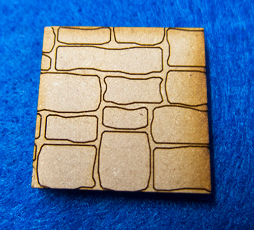 """1"""" (25mm) Square Base With Random Stone"""
