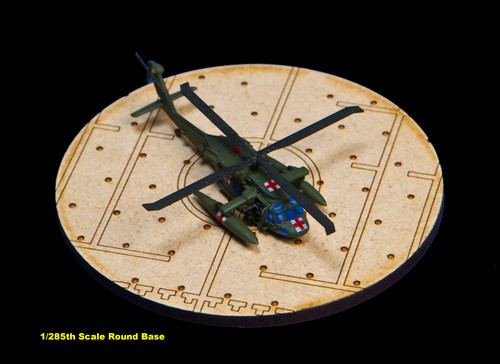 Aircraft / Helicopter Display Bases, 1/285th Scale Round Base