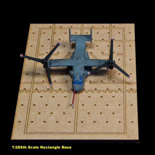 Aircraft / Helicopter Display Bases, 1/285th Scale Rectangle Base