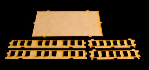 "15mm ""Stackable"" Building, Upper (Middle) Floors (MDF) - 15MMDF103-2"