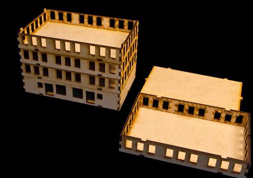"""15mm """"Stackable"""" Building, Top Floor (MDF) - 15MMDF103-3"""