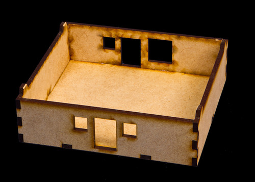 "15mm ""Stackable"" Building, Ground Floor (MDF) - 15MMDF104-1"