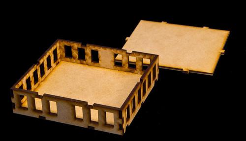 """15mm """"Stackable"""" Building, , Top Floor (MDF) - 15MMDF104-3"""