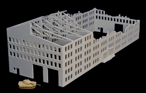 15mm Stalingrad Factory, Ruined (MDF) - 15MMDF081