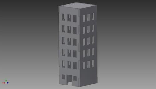 City Building (MDF) - 15MMDF254