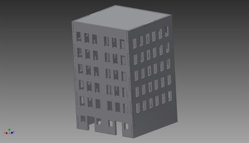 City Building (MDF) - 15MMDF257