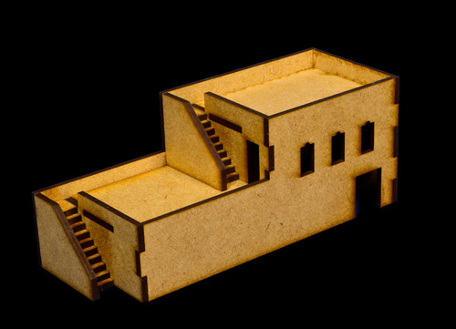 Middle East Building with 2 Outside Stairs (MDF) - 15MMDF050
