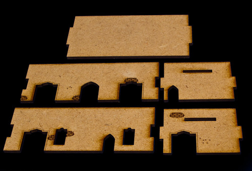 Middle East One Story Building With Removable Roof (MDF) - 15MMDF015-R