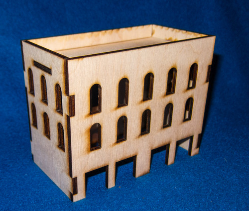 Middle East Three Story Building With Removable Roof (MDF) - 15MMDF025-R