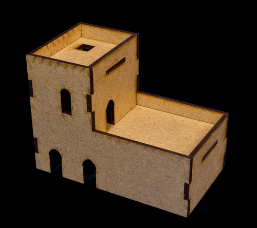 Middle East Two Story Building  (MDF) - 15MMDF026