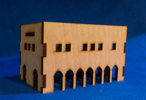 Middle East Two Story Building (MDF) - 15MMDF017