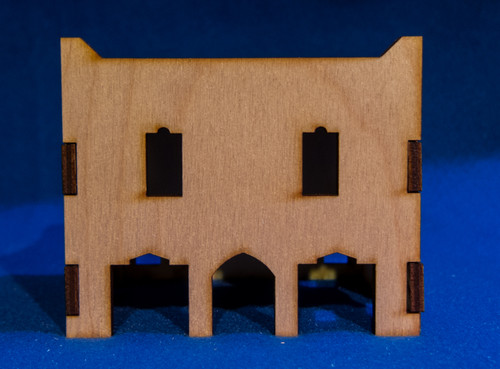 Middle East Two Story Building (MDF) - 15MMDF018