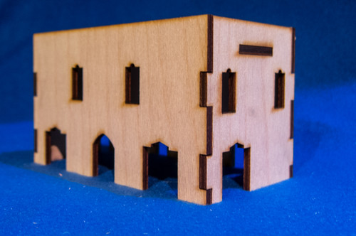 Middle East Two Story Building (MDF) - 15MMDF019
