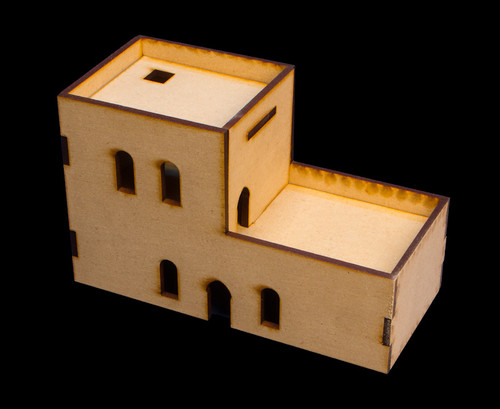Middle East Two Story Building (MDF) - 15MMDF120