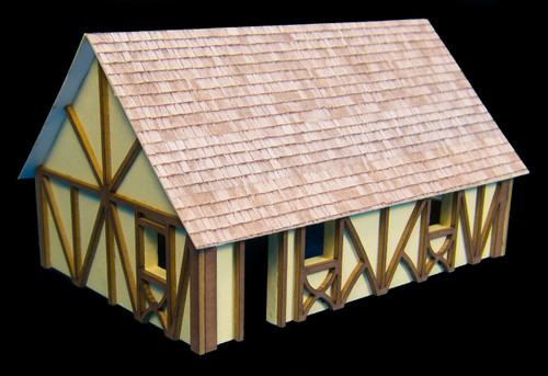 One Story Medium Half Timber House (MDF) - 15MMDF300