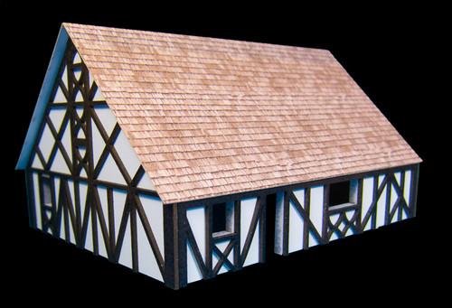 One StoryMedium Half Timber House with attic (MDF) - 15MMDF305