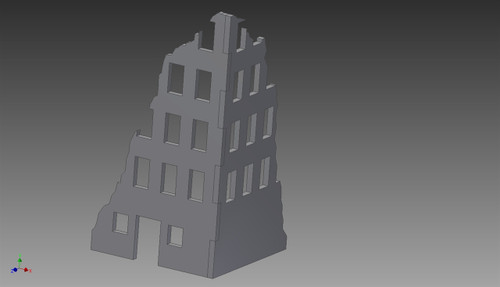 Ruined City Building (MDF) - 15MMDF250