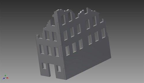 Ruined City Building (MDF) - 15MMDF251