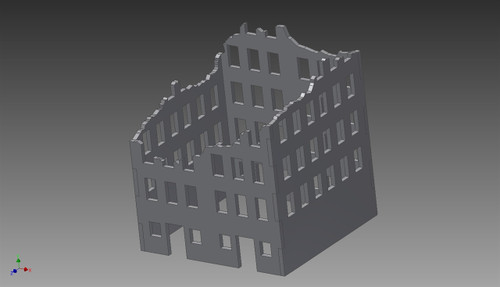 Ruined City Building (MDF) - 15MMDF258
