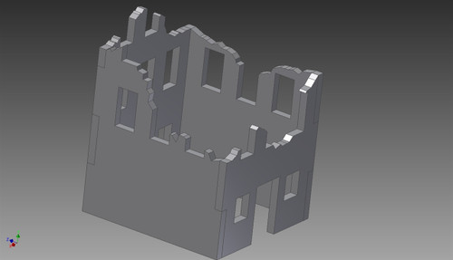 Ruined City Building (MDF) - 15MMDF260