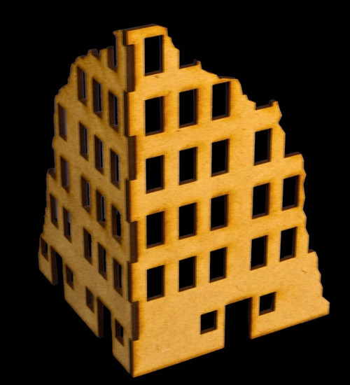 Ruined City Building 1 (MDF) - 15MMDF001