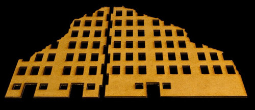 Ruined City Building 2 (MDF) - 15MMDF002