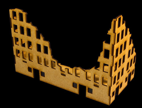 Ruined City Building 3 (MDF) - 15MMDF003