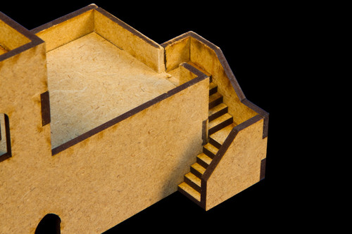 Stairs - 3 Per Kit (MDF) - 15MMDF052
