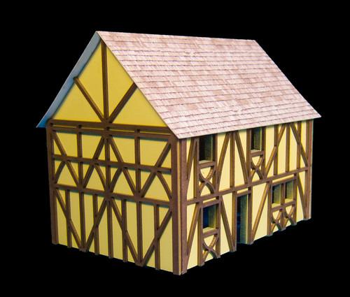Two Story Medium Half Timber House (MDF) - 15MMDF302