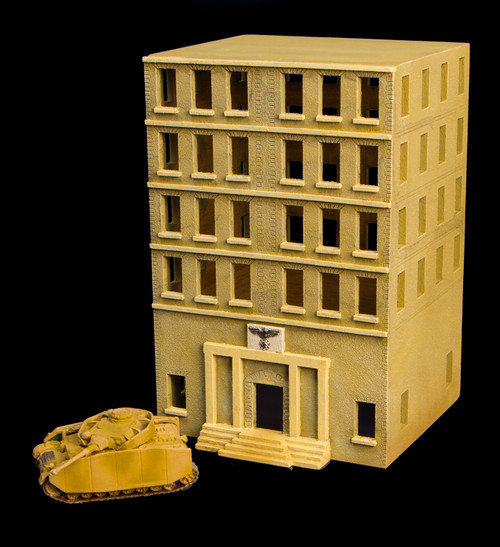WWII City Building (MDF) - 15MMDF450