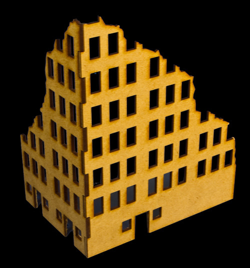 Ruined City Building 2 (MDF) - 20MMDF002