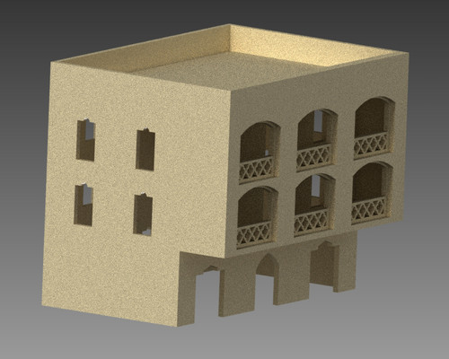 20mm Middle East Three Story Building - 20MMDF156