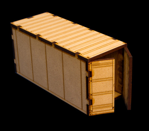 20' Shipping Container (With Open Door) - 28MMDF151-2