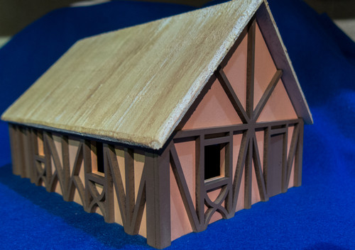 One Story Medium Half Timber House - 28MMDF300