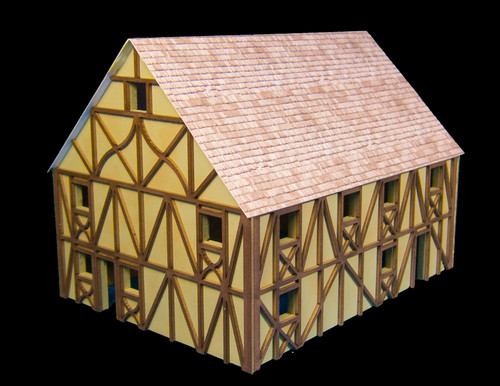Two Story Large Half Timber House with attic - 10MMDF304