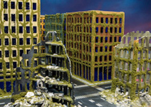 Ruined City Building (Acrylic) - 10MACR001