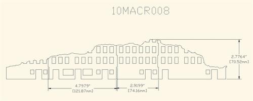 Ruined City Building (Acrylic) - 10MACR008