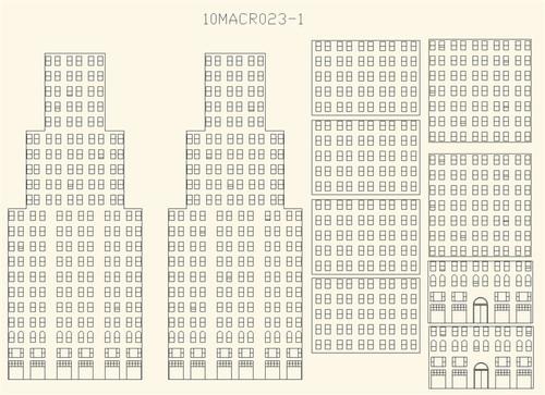 Window Kit for 10MACR023 Skyscraper - 10MACR023-1