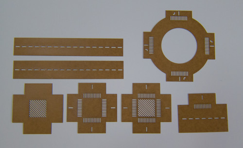 Road Marking Stencil Set - 10mm (N Scale)