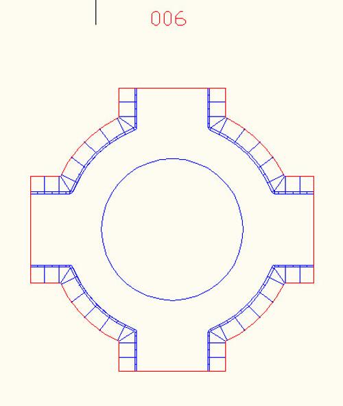 Traffic Circle (Roundabout), 2 Lane Road - 10MROAD006