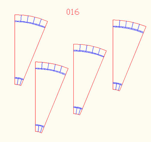 22.5 degree corners, 4 Lane Road (4 pcs) - 10MROAD016