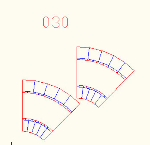 45 Degree Curve, Single Lane, 2 Pieces - 10MROAD030